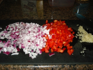 Red Onion, Red Pepper, Garlic