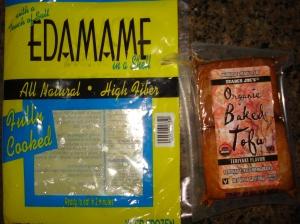 Frozen Edamame Packet & Trader Joe's Tofu